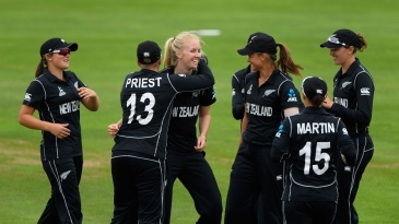 Hannah Rowe struck twice off two balls on World Cup debut