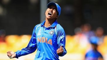 Ekta Bisht exults after taking out Trisha Chetty