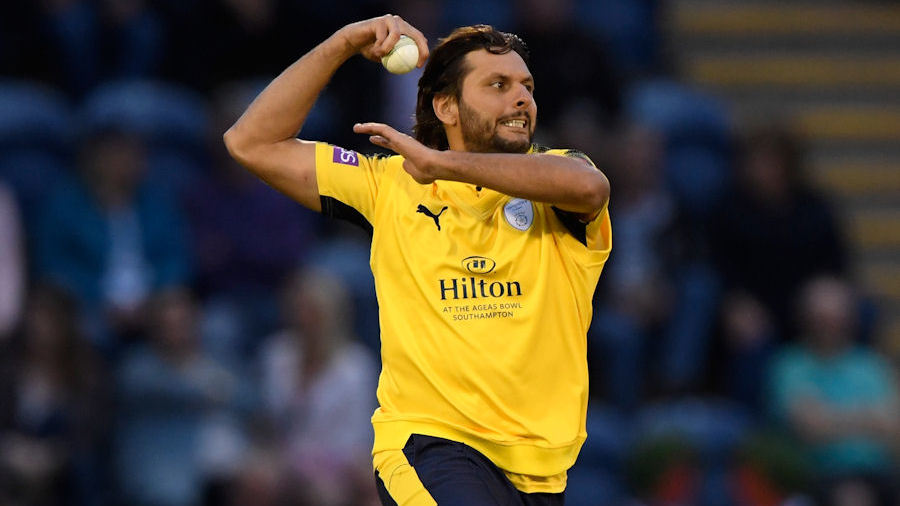Shahid Afridi took four wickets in Cardiff