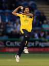 Shahid Afridi took four wickets in Cardiff, Glamorgan v Hampshire, NatWest T20 Blast, South Group, July 8, 2017