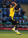 Reece Topley in action for Hampshire, Glamorgan v Hampshire, NatWest T20 Blast, South Group, Cardiff, July 8, 2017