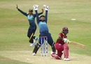 Nipuni Hansika and Prasadani Weerakkodi appeal for the wicket of Kycia Knight, West Indies v Sri Lanka, Women's World Cup, July 9, 2017