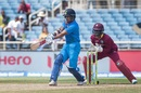 Shikhar Dhawan sets up to pull the ball, West Indies v India, Only T20I, Kingston, July 9, 2017