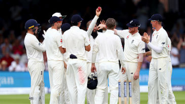 Moeen Ali celebrates his five-wicket haul as South Africa are rolled aside at Lord's