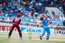 Rishabh Pant loses his bat as he tries to slog one, West Indies v India, Only T20I, Kingston, July 9, 2017