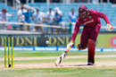 Chris Gayle scrambles to make the crease at the non-strikers end, West Indies v India, Only T20I, Kingston, July 9, 2017
