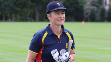 Captain Claire Taylor walks off after securing victory