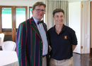 Merion CC's Craig Martin with Marylebone CC captain Claire Taylor, USA Women v MCC Women, Philadelphia, September 11, 2016