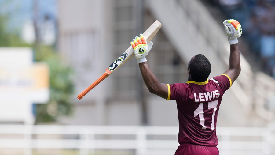 Evin Lewis' unbeaten 125 handed West Indies a nine-wicket win