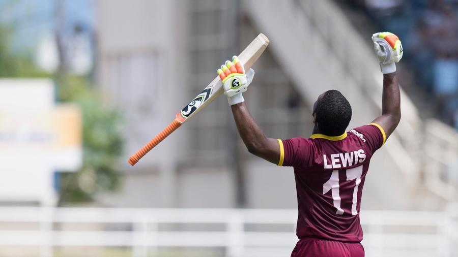 Evin Lewis' unbeaten 125 handed West Indies a nine-wicket win