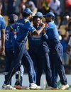 Akila Dananjaya led Sri Lanka's fightback with 4 for 47, Sri Lanka v Zimbabwe, 5th ODI, Hambantota, July 10, 2017