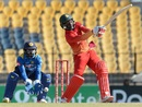 Tarisai Musakanda tries to heave the ball to the leg side, Sri Lanka v Zimbabwe, 5th ODI, Hambantota, July 10, 2017