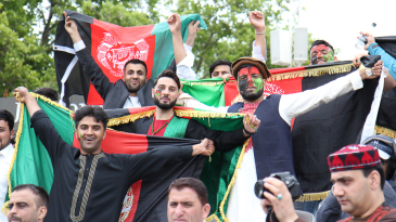 Afghanistan fans show their colours at Lord's