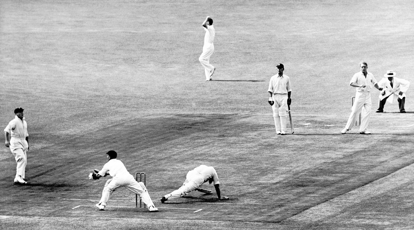 Tufty Mann has Denis Compton in some trouble