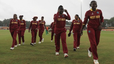 Stafanie Taylor leads West Indies off the field