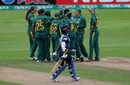 South Africa celebrate the wicket of Hasini Perera, South Africa Women v Sri Lanka Women, Women's World Cup, Taunton, July 12, 2017