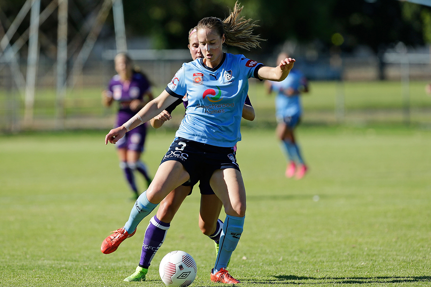 Perry plays club football for Sydney FC in the W-League, 2015