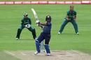 Hasini Perera sends one down the ground, South Africa Women v Sri Lanka Women, Women's World Cup, Taunton, July 12, 2017