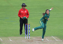 Sune Luus imparts some revolutions on a delivery, South Africa Women v Sri Lanka Women, Women's World Cup, Taunton, July 12, 2017