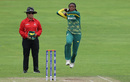 Ayabonga Khaka is about to send down a delivery, South Africa Women v Sri Lanka Women, Women's World Cup, Taunton, July 12, 2017