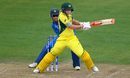 Meg Lanning swivels and plays a pull, Australia v India, Women's World Cup, Bristol, July 12, 2017