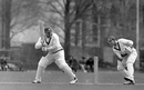 Clyde Walcott bats against the touring West Indians. The keeper is Robert Christiani, Colonel LC Stevens' XI v West Indies XI, The Saffrons, Eastbourne, 1st day, April 24, 1950