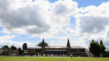 A general view of the match at Cheltenham College