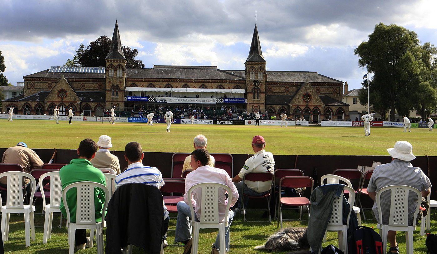 A general view of play in Cheltenham College