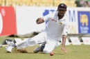 Suranga Lakmal cleans up in the deep, Sri Lanka v Zimbabwe, Only Test, Colombo, 1st day, July 14, 2017