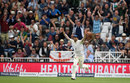 Mark Wood celebrates the catch to dismiss Hashim Amla, England v South Africa, 2nd Investec Test, Trent Bridge, 1st day, July 14, 2017