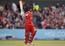 Karl Brown top-scored with 61, Lancashire v Yorkshire, NatWest T20 Blast, North Group, Old Trafford, July 14, 2017