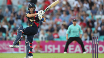Joe Denly's unbeaten hundred shocked Surrey at the Kia Oval