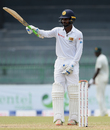 Upul Tharanga brought up his half-century off 64 balls, Sri Lanka v Zimbabwe, only Test, 2nd day, Colombo, July 15, 2017