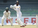 Upul Tharanga uses a deft touch to steer the ball, Sri Lanka v Zimbabwe, only Test, 2nd day, Colombo, July 15, 2017