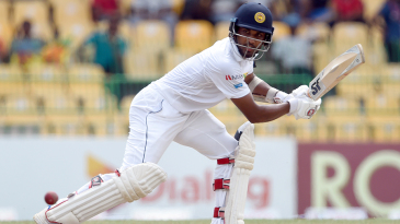 Dinesh Chandimal began his first innings as Test captain with a fluent fifty