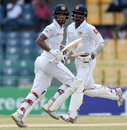 Dinesh Chandimal and Angelo Mathews steadied Sri Lanka with a 96-run partnership for the fourth wicket, Sri Lanka v Zimbabwe, only Test, 2nd day, Colombo, July 15, 2017