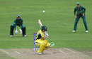 Nicole Bolton ducks under a ball, Australia v South Africa, Women's World Cup, Taunton, July 15, 2017