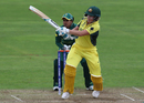 Beth Mooney swivels during a pull, Australia v South Africa, Women's World Cup, Taunton, July 15, 2017