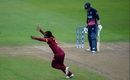 Deandra Dottin took out Sarah Taylor for a golden duck, England v West Indies, Women's World Cup, Bristol, July 15, 2017