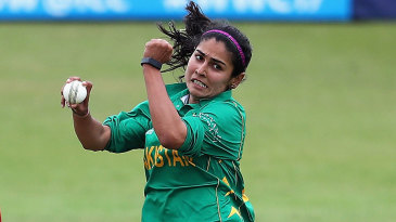 Kainat Imtiaz sends down a delivery