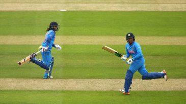 Mithali Raj and Veda Krishnamurthy sprint between wickets