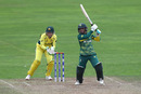 Mignon du Preez plays through the off side, Australia v South Africa, Women's World Cup, Taunton, July 15, 2017