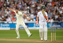 James Anderson removed Heino Kuhn early in South Africa's second innings, England v South Africa, 2nd Investec Test, Trent Bridge, 2nd day, July 15, 2017