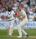 Stuart Broad barely appealed for a caught-behind against Hashim Amla, England v South Africa, 2nd Investec Test, Trent Bridge, 3rd day, July 16, 2017