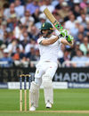 Faf du Plessis plays through the covers, England v South Africa, 2nd Investec Test, Trent Bridge, 3rd day, July 16, 2017