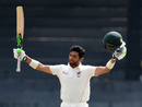 Sikandar Raza was thrilled to reach his maiden Test hundred, Sri Lanka v Zimbabwe, only Test, 4th day, Colombo, July 17, 2017
