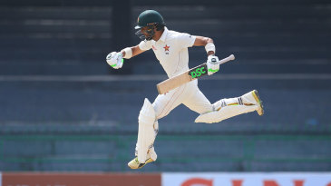 Sikandar Raza leaps to celebrate his hundred