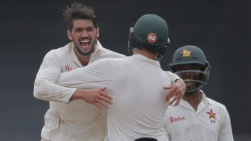 Graeme Cremer dismissed both of Sri Lanka's overnight batsmen