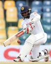 Kusal Mendis top-edged a sweep to mid-on, Sri Lanka v Zimbabwe, only Test, 5th day, Colombo, July 18, 2017