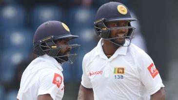 Niroshan Dickwella and Asela Gunaratne added 121 for the sixth wicket
